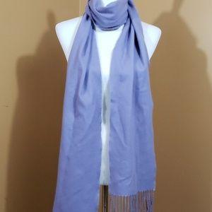 Lilac fringe scarf